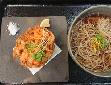 かき揚げ蕎麦(温・冷)写真